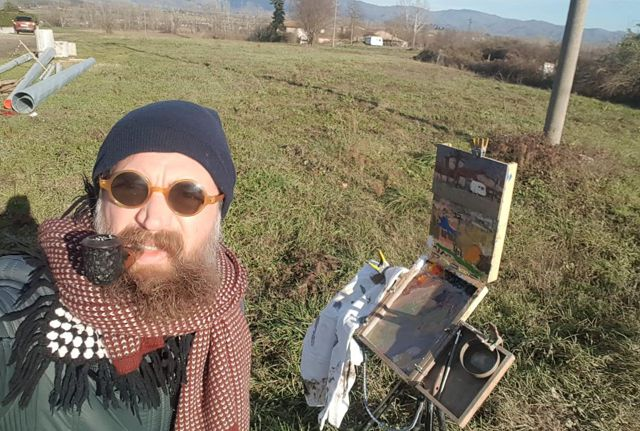 Plein Air Of New Year's Day