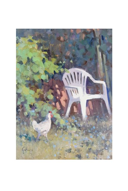 throne of chickens (18 x 24)