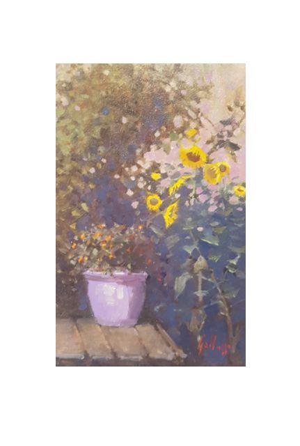 violet pot (14 x 22)