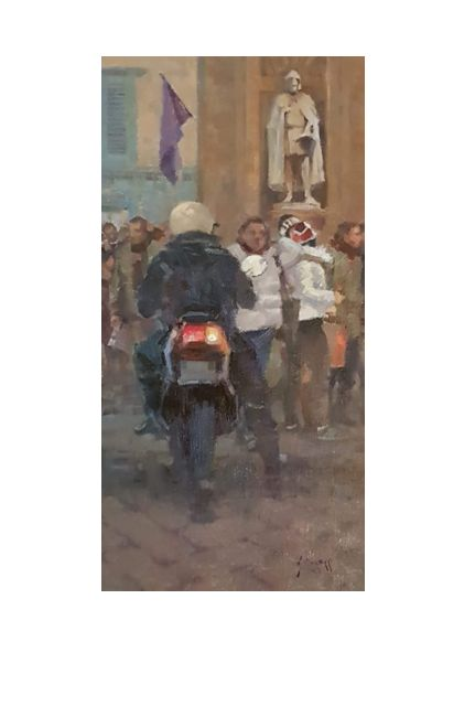 centaur and pedestrians (15 x 30)